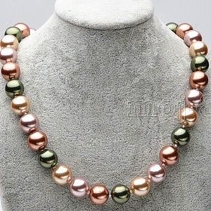 12mm Natural Multi-color South Sea Shell Pearl